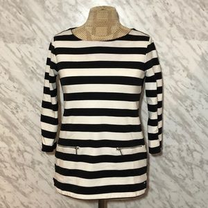 Tommy Hilfiger Stiped Top Black White Size XSmall